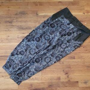Helmut Lang floral black white harem pants trouser